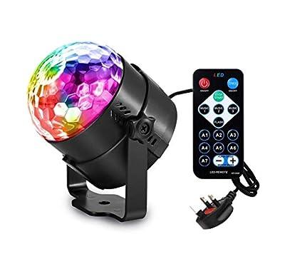 Emwel Disco Ball Light 7 Colours Disco DJ Stage Lights Music Magic Rotating LED Ball Lights Party Lights Strobe Lights