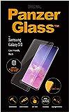 PanzerGlass Displayschutz (Case Friendly) mit Fingerabdrucksensor-Unterstützung und farbigem Rahmen in Schwarz - passend für Samsung Galaxy S10