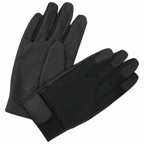 ゴム手袋 ドットサイバー 黒 DC63LL/4418