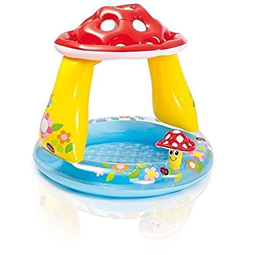 Pool aufblasbar rund Pilz mit Sonnenschutz 57407Intex Ferr 163972