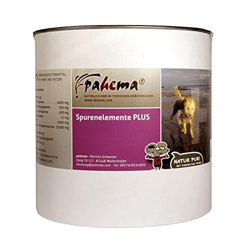 pahema Spurenelemente Plus für Hunde + Katzen mit Zink, Kupfer, Mangan, Selen, Vitamin E + Magnesium (250 g)