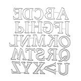 Asiproper Taglio del Metallo Che Muore Stencil per la Lettera maiuscola dell'album di Foto di Scrapbooking di DIY