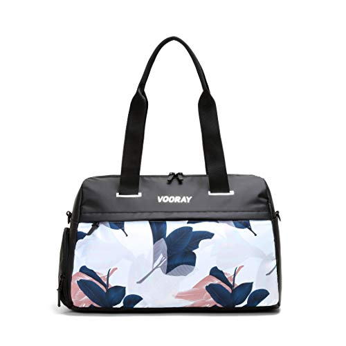 Vooray Trainer Duffel, Water-Resistant Gym Bag with Shoe Compartment and Wet-Gear Pocket 24L (Guava)