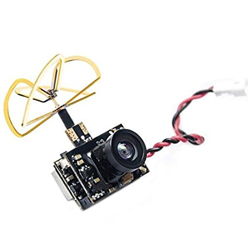 AKK Micro FPV AIO Camera (600TVL) and 5.8G 0/25/50/200mW Switchable Transmitter with Clover Antenna for FPV RC Car FPV Racing Drone Quadcopter Micro RC Plane Whoop Blade Inductrix