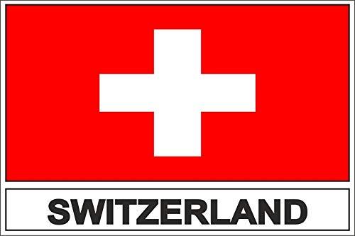 Akachafactory Sticker Aufkleber Flaggen Flagge Fahne ch Schweiz Swiss