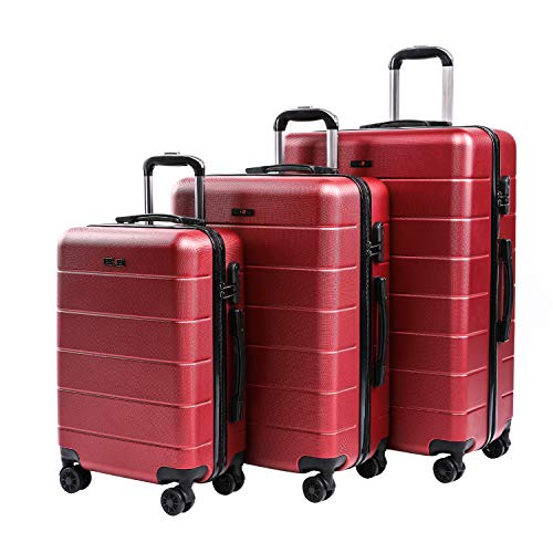 CarryOne Set di Valigie Trolley Rigidi Bagaglio a mano con 4 Rotelle...