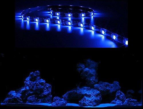 Creative Lights Aquarium Mondlicht, LED LICHTLEISTE 120 cm Flexi-Slim BLAU Komplettset INKL. NETZTEIL