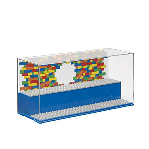 Room Copenhagen, Lego Play and Display Case - Includes Baseplates and Backdrop - Iconic Blue