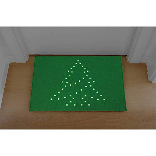 Polarlite PDE-05-002 LED-Dekobeleuchtung EEK: LED (A++ - E) Fußmatte Weihnachtsbaum Grün LED Grün