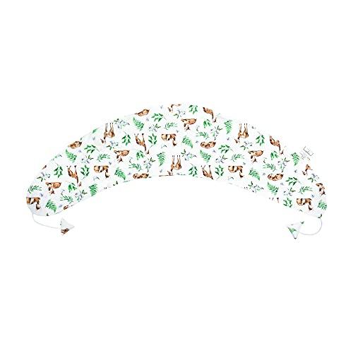 Taie d'oreiller d'allaitement pour Totsy Baby Coussin d'allaitement - Housse XXL pour Oreiller de dormeur latéral Oreiller de Grossesse (Motif Cerf, Coton)