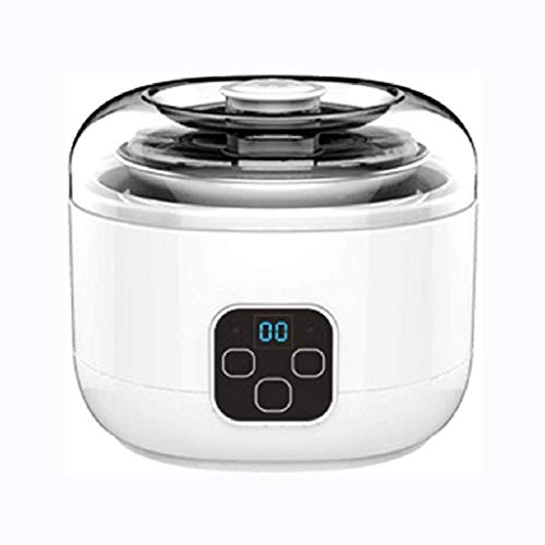 XJJZS Máquina automática Yogur -Yogurt Máquina - Automatic Yogurt Maker Máquina, Personalizar a su Sabor y Fabricante de Espesor eléctrico, Blanca