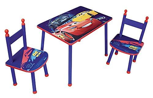 Fun House 712763 CARS Table avec 2 chaises pour Enfant MDF/Métal
