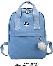 KTUKDECN Fashion Women Backpack For School Teenagers Girls Stylish School Bag Ladies Canvas Fabric Backpack Female Bookbag