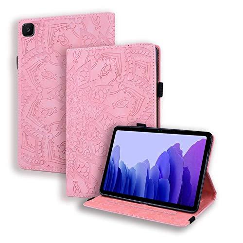 L&Btech Custodia Samsung Galaxy Tab A7 10.4'' Cover, Custodia in PU Pelle a Portafoglio SM-T500 /505/507 Flip Case con Stand e Auto Sveglia/Sonno per Galaxy Tab A7 2020 Tablet - Rosa