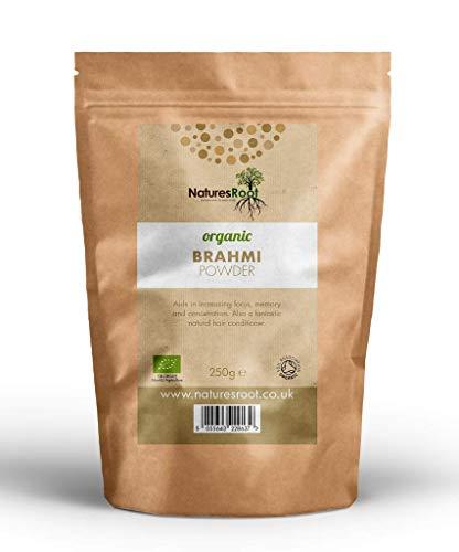 Nature's Root Brahmi en polvo orgánico – Hierbas ayurvédicas | Bacopa Monnieri | Producto para el crecimiento del cabello | Suplemento para el cabello espesante