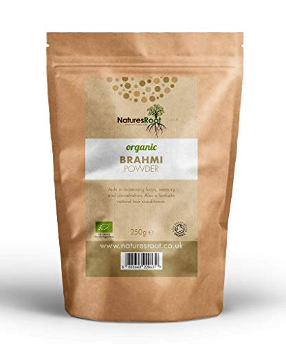 Nature's Root Organic Brahmi Powder - Ayurvedic Herb | Bacopa Monnieri | Hair Growth Product | Thickening Hair Supplement (500g)