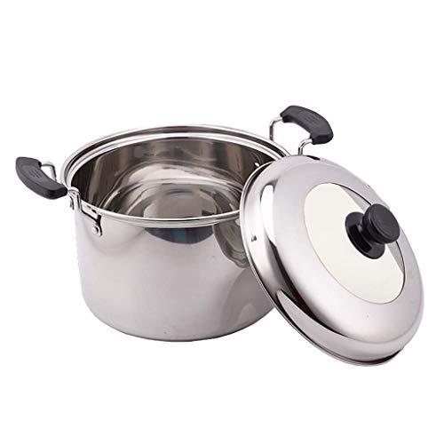 Pentola in Acciaio Inossidabile 304 pentola per zuppa Domestica pentola (4-14L) Adatta per 2-12 Persone per pentola a Gas fornello a induzione (Dimensioni: 7L)