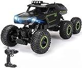 Wghz Vehículo eléctrico de Alta Velocidad Buggy Race Mini RC Coche 360 & deg;Juguetes giratorios para niños Monster Metal Shell vehículos 2,4 GHz 6WD Camiones Rock Crawler Racer niño niñas jug
