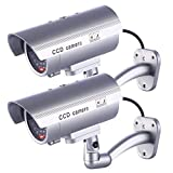 IDAODAN Dummy Security Camera, Fake Cameras CCTV Surveillance System with Realistic Simulated LEDs...