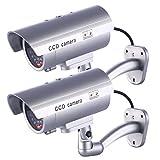Fake Security Camera, Dummy Cameras CCTV Surveillance System Realistic Simulated LEDs Home Security