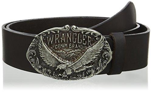 Wrangler Eagle Buckle Black Cintura, Nero 99, 115 cm Uomo
