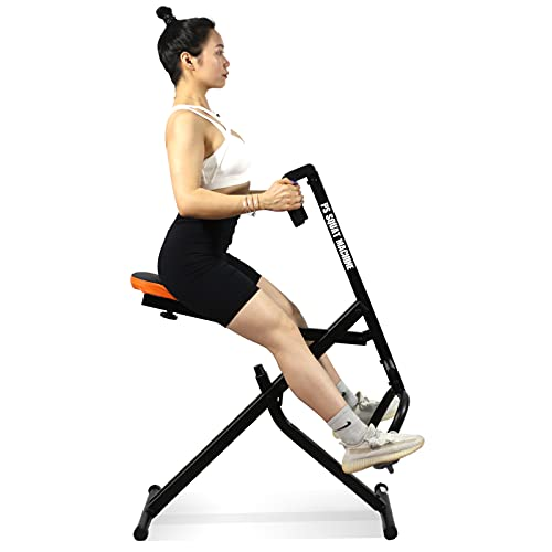 PS Squat exercise Machine,Riding status Total Crouch Indoor full Body Workout Cardio Fitness strength Exercise Equipment Rowing Squat Assist Trainer