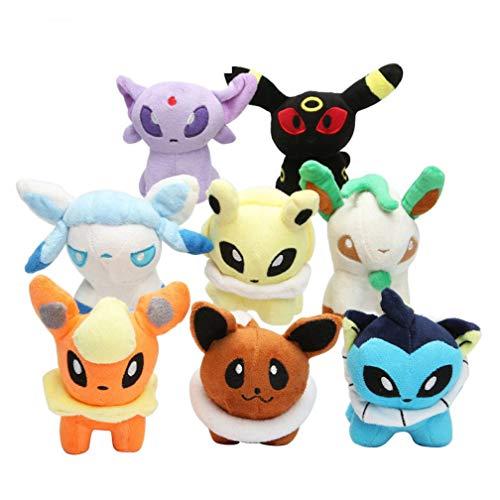 8 stuks Pokemon Pikachu Knuffels 13cm
