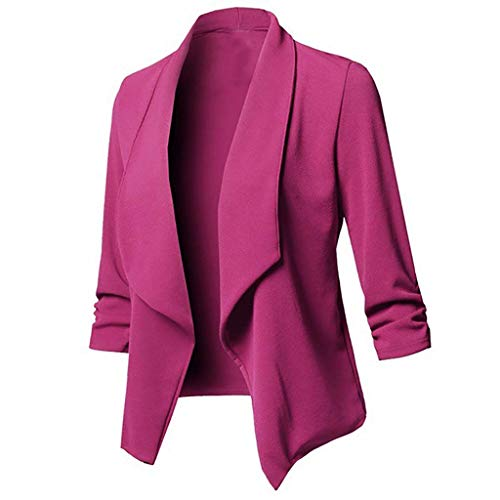 serliy😛Damen Sakko Cardigan Elegant Blazer Leicht DüNn LäNgere Leichte Jacke Fließt Wunderbar Und Ist SchöN Leicht Locker Fallendes zu Jeans T-Shirt Aber Auch zur Edlen Anzughose Pumps