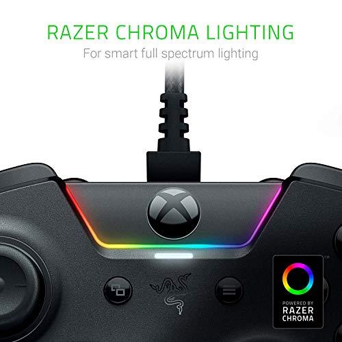 Razer Wolverine Ultimate - Kabelgebundener Gaming Controller für Xbox Series X / S + Xbox One + PC mit Chroma RGB (Austauschbare Sticks und Steuerkreuz) Schwarz
