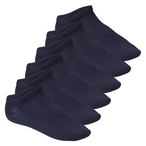 Footstar Herren und Damen Fitness Sneaker Socken (6 Paar), Mesh-Strick, OEKO-TEX - Marine 35-38
