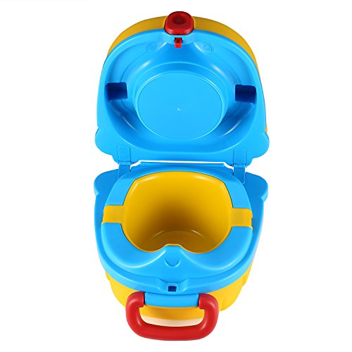 ONEDONE Small Portable Potty for Toddler Travel Outdoor Toilet Squatting Potty for Baby Potty...