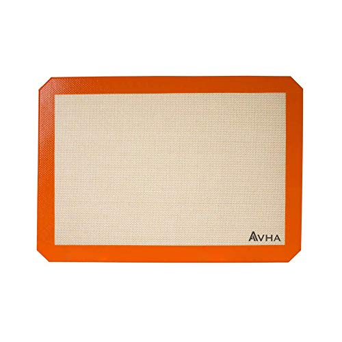 Silicone Baking Mat - Non-Stick Half Sheet - Food Safe Professional Pan Liners - (16-1/2' x 11-5/8')
