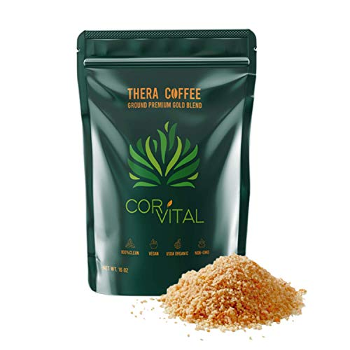 *THE REAL DEAL* Cor-Vital 1 LB Enema Coffee Best for Coffee Enema Colon Cleanse and Detox - Green Coffee Beans Ground w/ Free Detox Recipe - Gold Roast