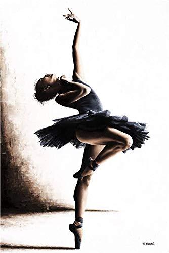 JHGJHK Yoga, Gimnasia, Ballet, Danza, Pintura, decoración del hogar, Estilo nórdico, Mural, Cartel, Europeo, Retro, Simple, Sala de Estar, decoración, Pintura (Imagen 6)