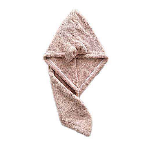 planuuik Magic Fibre de Bambou Corail Velours Cheveux Séchage Rapide Sèche-Serviette Serviette De Bain Wrap Chapeau Rapide