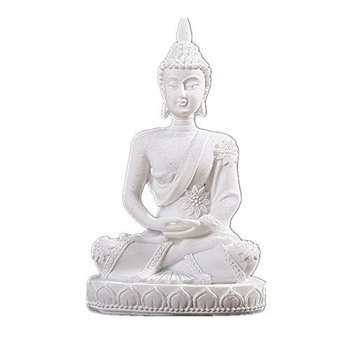 Vilead Mini Buddha Statue Dhyani Mudra Sculpture Hindu Fengshui Praying Sitting Figurine for Home Decor 4.3'