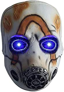 Yacn Borderlands 3 Legends Psycho mask Eyes with LED Light Halloween Party Cosplay Props for Kids