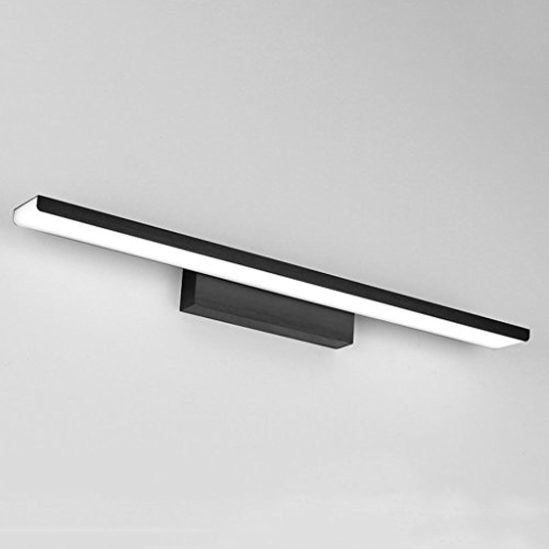 QAZ Badewanne Spiegelleuchten Spiegel Licht Licht Badewanne Badezimmer Wand Lampe schwarz Edelstahl wasserdicht Stilvoll elegante [Energie Klasse A++] (Farbe  Weies Licht-16 W 41 CM)