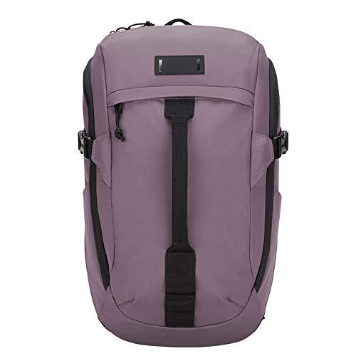 Mochila ultraligera de bolsas casuales, diseñada para una fuerte protección impermeable, adecuada para viajes y desplazamientos, y puede alojar hasta laptops de hasta 14 pulgadas ( Color : Purple )