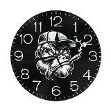 ゴリラ 置き時計 掛け時計 壁掛け時計 丸い時計 サイレント デジタル時計 おしゃれ 家の装飾