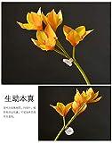 WES Flores decorativas artificiales Simulación simple Flora falsa Flor Florale Salle de bain florale de décoration florale Décoration florale Décoration florale Décoration de l'hôtel 54 Cm Liste de