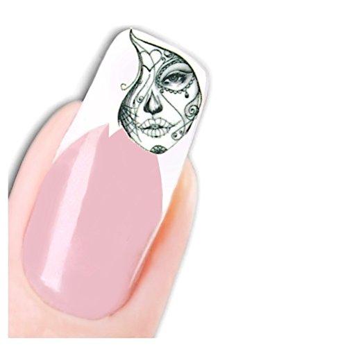 JUSTFOX - Tattoo Nail Art La Catrina Day of the Dead Dia de Muertos Totenkopf