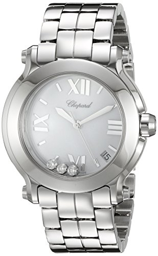 CHOPARD WOMEN'S 36MM STEEL BRACELET & CASE SWISS QUARTZ WATCH 278477-3013