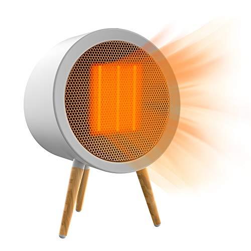 2020 Heizlüfter Energiesparend, ZOTO 800W 3 Modes Keramik Heizlüfter, Heizung Elektrisch mit Automatischer Überhitzungs- und Ausschaltschutz&Timing-Funktion für Wohnzimmer, Schlafzimmer, Schreibtisch