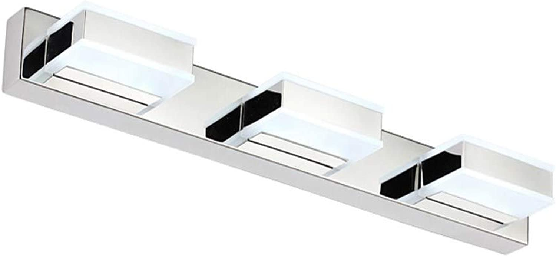 Cwill Indoor Wandleuchten 3-lights Moderne LED Badezimmerleuchten 50CM Lange Edelstahl Leuchte 110-220V