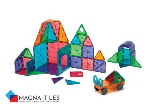Image of Magna-Tiles 48-Piece Clear Colors DELUXE Set, The Original, Award-Winning Magnetic Building Tiles for Kids, Creativity and Educational Building Toys for Children, STEM Approved
