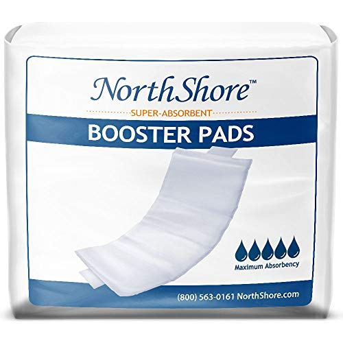 NorthShore Booster Pads for Men and Women with Adhesive, Large, Case/120 (4/30s)