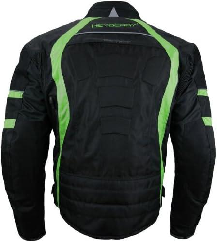 Heyberry Kurze Textil Motorrad Jacke Motorradjacke Schwarz Grün Gr Xl Auto