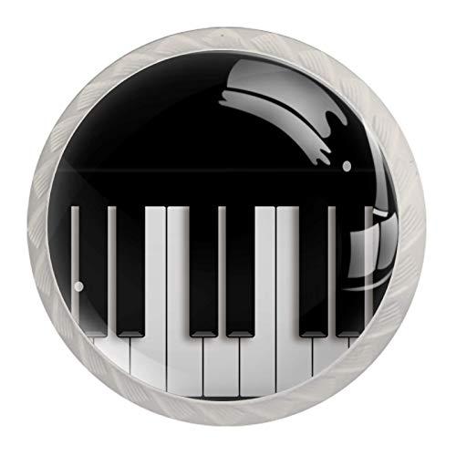 Piano Vintage Ton [4 Stuck] Küchenknöpfe - Türknopf Knauf für Schrank, Schubladenknopf, Türknäufe, Möbelknopf