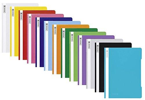 13 Schnellhefter Kunststoff Hefter aus PP Brunnen in 13 Farben (13 Farben NEU)